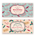christmas candies pattern and greeting text vector image