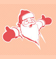 christmas drawing of the silhouette of a cute vector image vector image