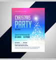 christmas flyer template with glowing tree and vector image vector image
