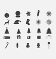 christmas icon set collection of holiday symbols vector image vector image