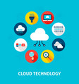cloud technology concept icons vector image vector image
