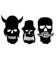 Collection of skulls vector image vector image