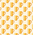 colored beer mug seamless pattern vector image vector image