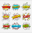 comic bubbles funny comics words in speech bubble vector image vector image