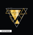 concept gold polygon dynamic modern arts template vector image vector image