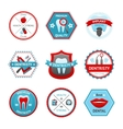 Dental Emblem Set vector image vector image