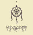 dreamcatcher design element with text vector image vector image