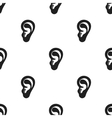 Ear icon in black style isolated on white vector image
