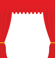 Empty scene Red Curtain outdoor Theatre curtain vector image