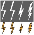 flat lightning signs vector image vector image