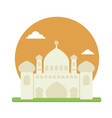 flat mosque with two minaret vector image
