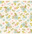 floral bed hand drawn seamless pattern vector image vector image