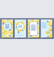 flower banners set vector image