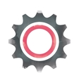 gear watercolor isolated icon design vector image