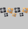 gift boxes silver bow realistic dark vector image vector image