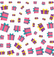 gifts boxes presents pattern vector image vector image
