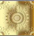 gold 3d sunny greek seamless pattern vector image vector image
