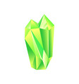 green iridescent stone mineral crystal gem vector image vector image