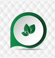 green leave icon geometric background image vector image vector image