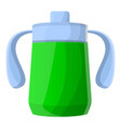 green sippy cup icon cartoon style vector image vector image