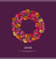 greeting card with floral garland vector image vector image