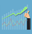growing financial graph or chart business vector image vector image
