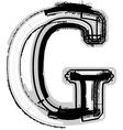 Grunge font letter G vector image vector image