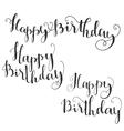 Happy Birthday Brush Script Style Hand lettering vector image