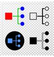 hierarchy eps icon with contour version vector image vector image