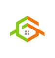 home design logo vector image vector image