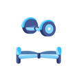 hoverboard scooter for teenagers icons set vector image vector image