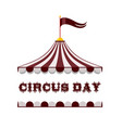 icon flat circus tent vector image