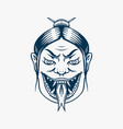 japanese female geisha with snake tongue vector image vector image