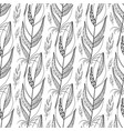 large outline black feathers pattern vector image