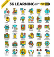 learning education concept icons vector image vector image