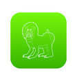 mandrill icon green vector image