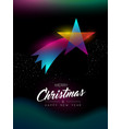 merry christmas glow gradient star greeting card vector image vector image
