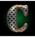 metal and wood figure c vector image vector image
