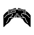 mobile game glyph icon vector image