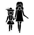 mother with daughter on vacation icon vector image vector image
