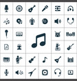 music icons universal set for web and ui vector image