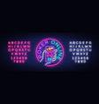 online poker logo in neon style design a vector image vector image
