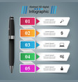 pen education icon business infographic vector image vector image