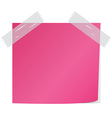 pink post it vector image