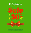 poster christmas sale advertising banner for a vector image vector image