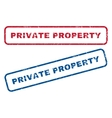Private Property Rubber Stamps vector image vector image
