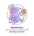 quaternary concept icon knowledge sector idea vector image vector image