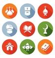 Religion Orthodoxy Islam Catholic Icons Set vector image vector image