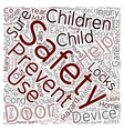 Safety Devices To Protect Your Children text vector image vector image