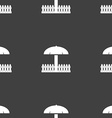 Sandbox icon sign Seamless pattern on a gray vector image